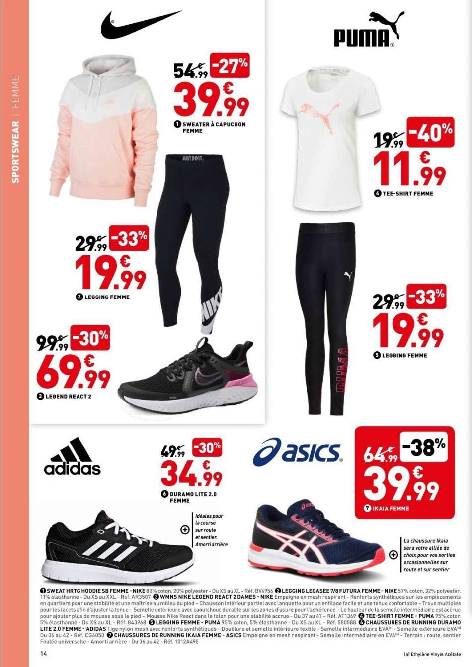latest fashion first rate top fashion Catalogue Intersport 24.8.2019 - 14.9.2019 | Uw-folder.be