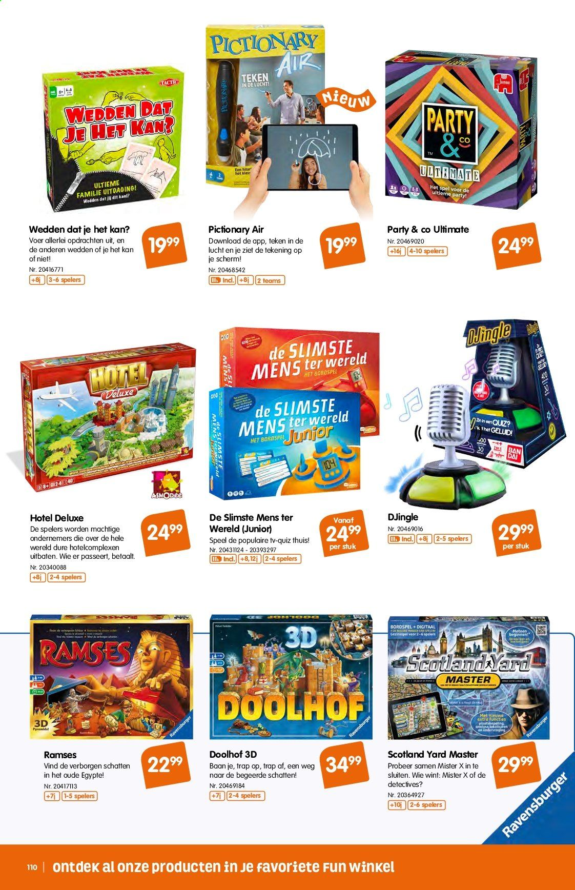 Fun-aanbieding - 9.10.2019 - 1.12.2019 -  producten in de aanbieding - mate, party & co, ravensburger, tv. Pagina 110.