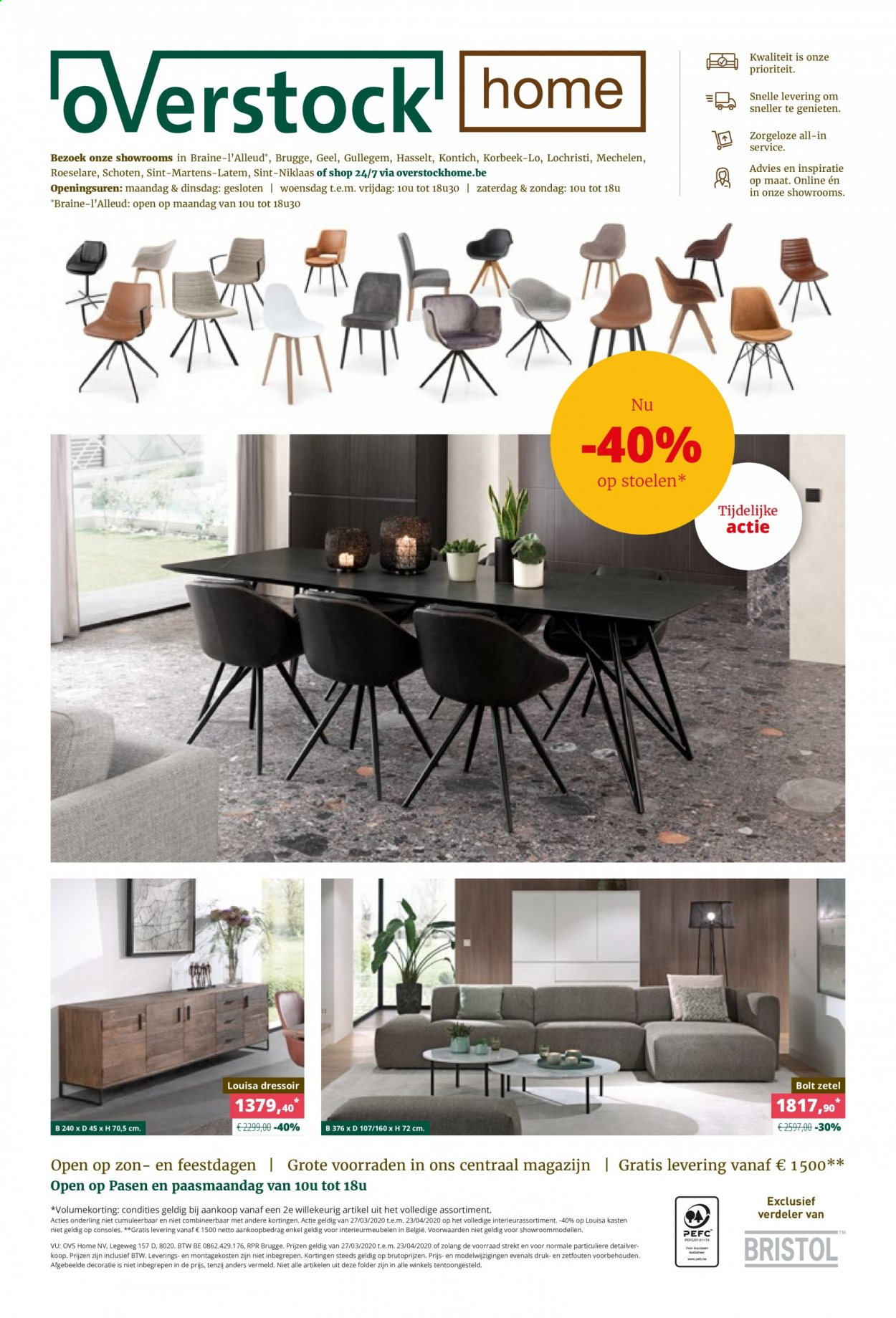 Catalogue Overstock Home  - 27.3.2020 - 23.4.2020. Page 1.