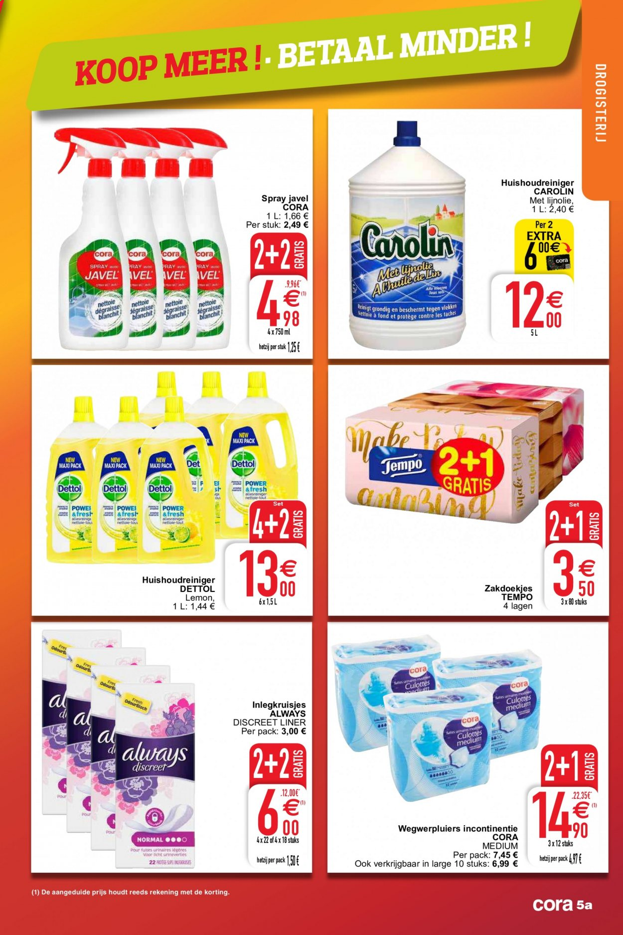 Catalogue Cora - 29.9.2020 - 5.10.2020 - Produits soldés - always, discreet. Page 5.