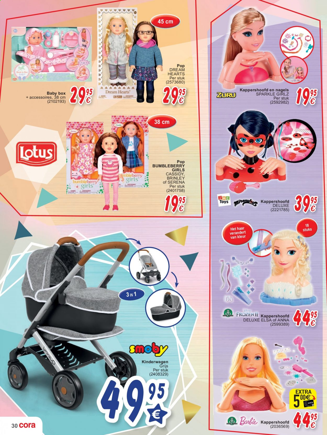 Catalogue Cora - 20.10.2020 - 2.12.2020 - Produits soldés - barbie, lotus. Page 30.