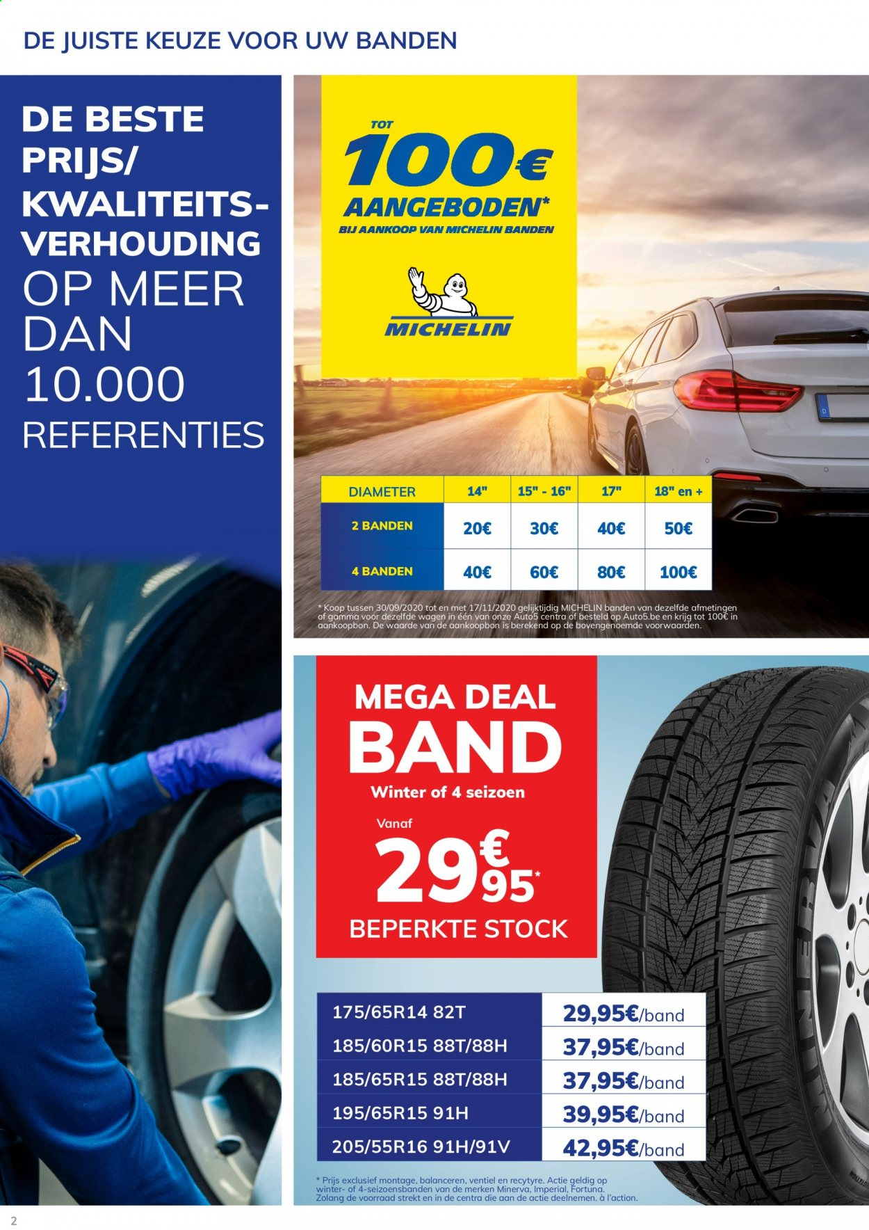 Catalogue Auto5 - 30.9.2020 - 17.11.2020 - Produits soldés - michelin. Page 2.