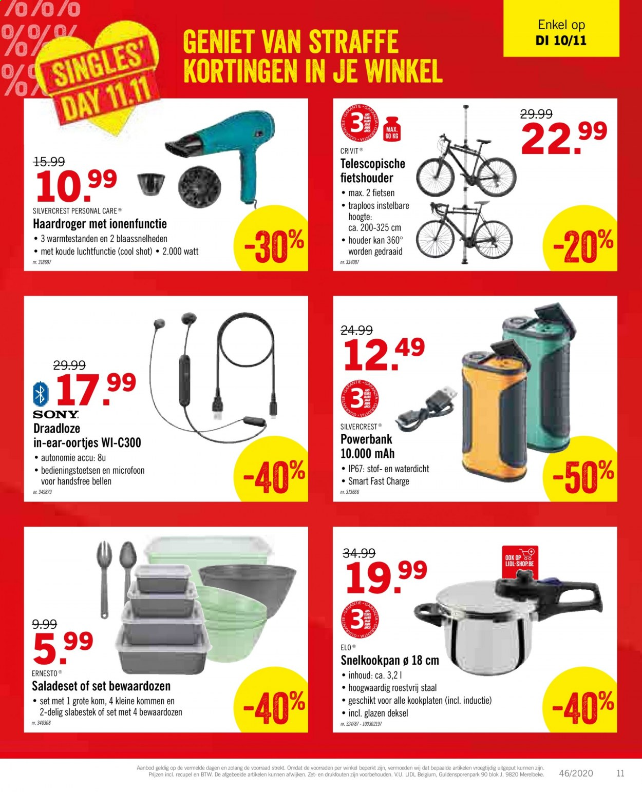 Catalogue Lidl - 9.11.2020 - 14.11.2020 - Produits soldés - powerbank, mah, silvercrest. Page 13.