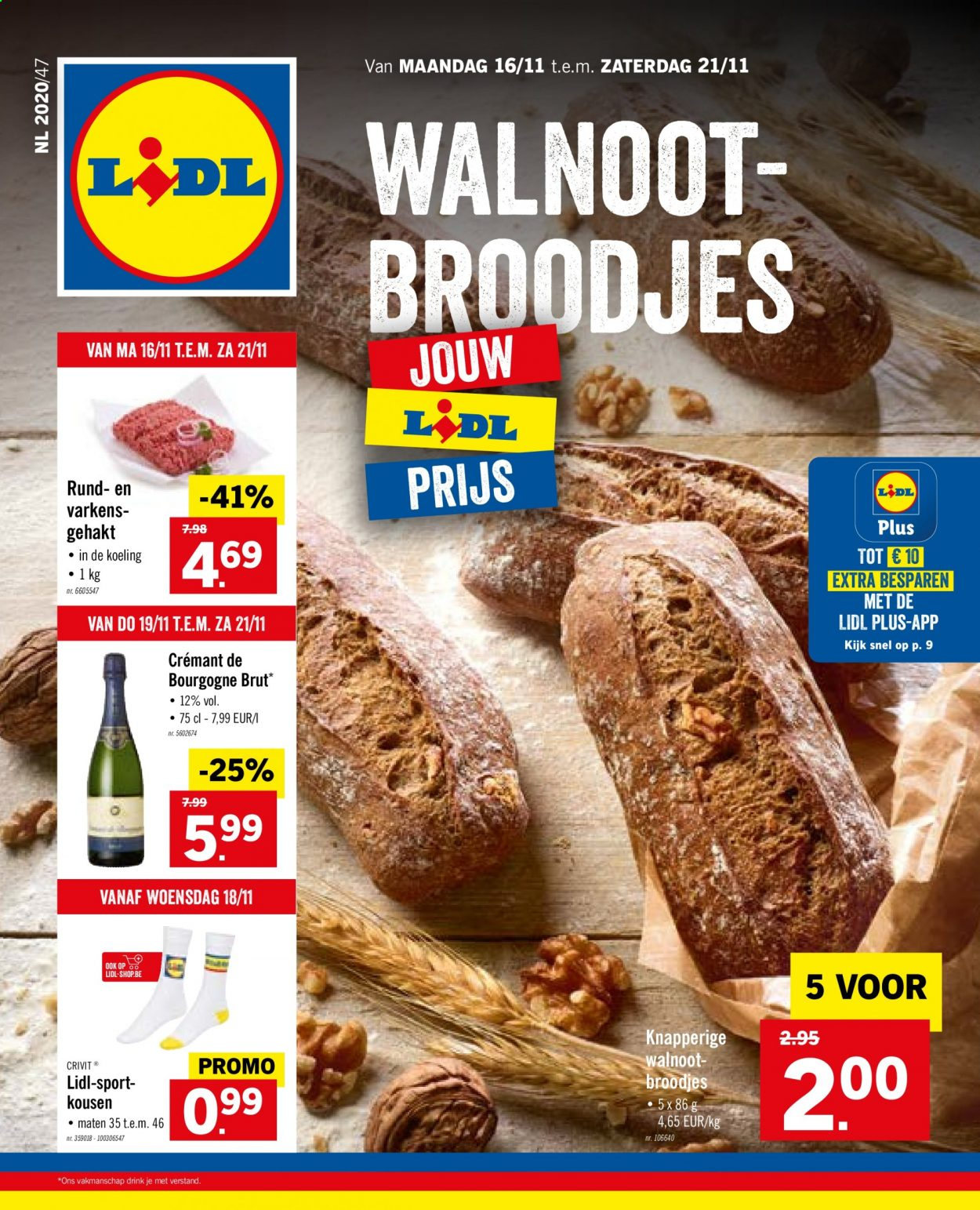 Catalogue Lidl  - 16.11.2020 - 21.11.2020. Page 1.