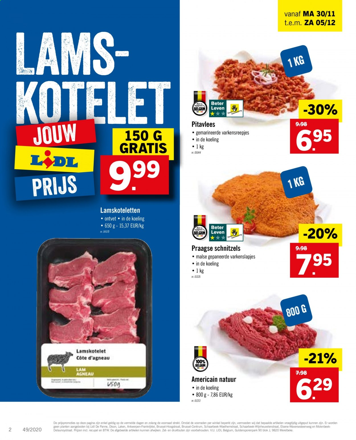 Catalogue Lidl  - 30.11.2020 - 5.12.2020. Page 2.