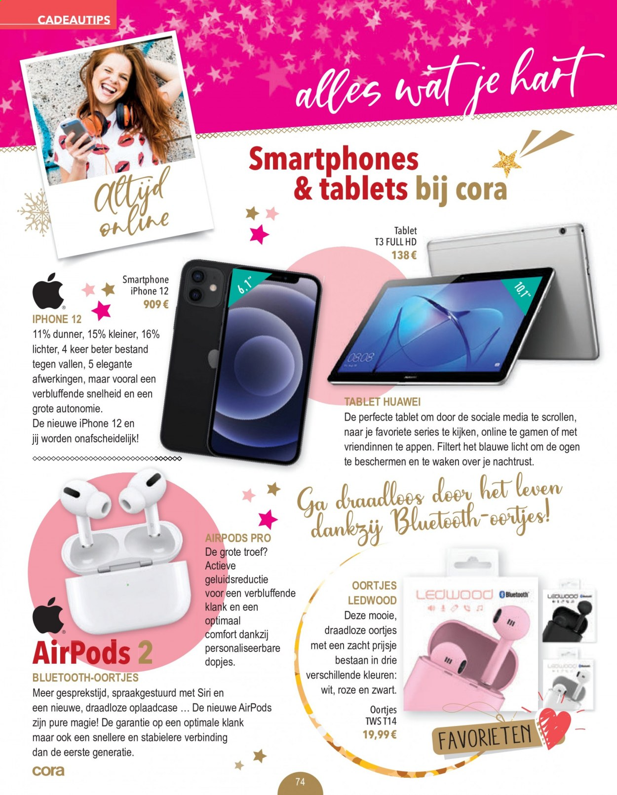 Catalogue Cora - 29.11.2020 - 31.12.2020 - Produits soldés - smartphone, bluetooth, full hd, huawei, iphone, tablet. Page 74.