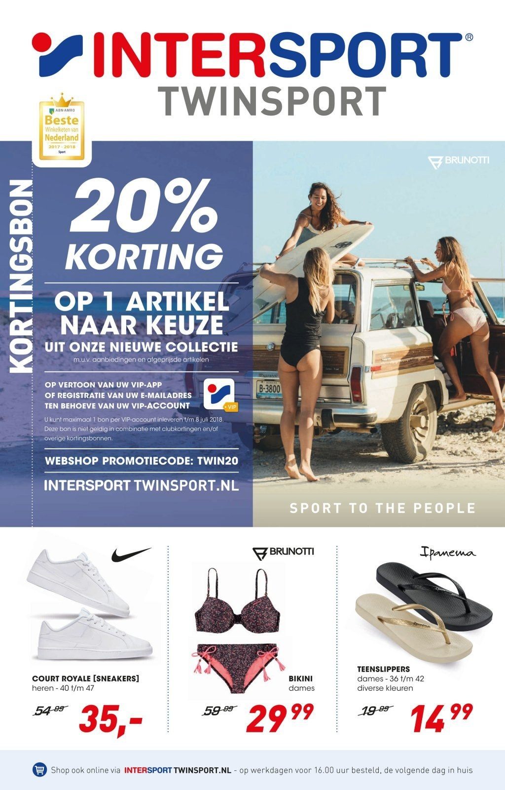 Intersport-aanbieding - 22.6.2018 - 8.7.2018. Pagina 1.