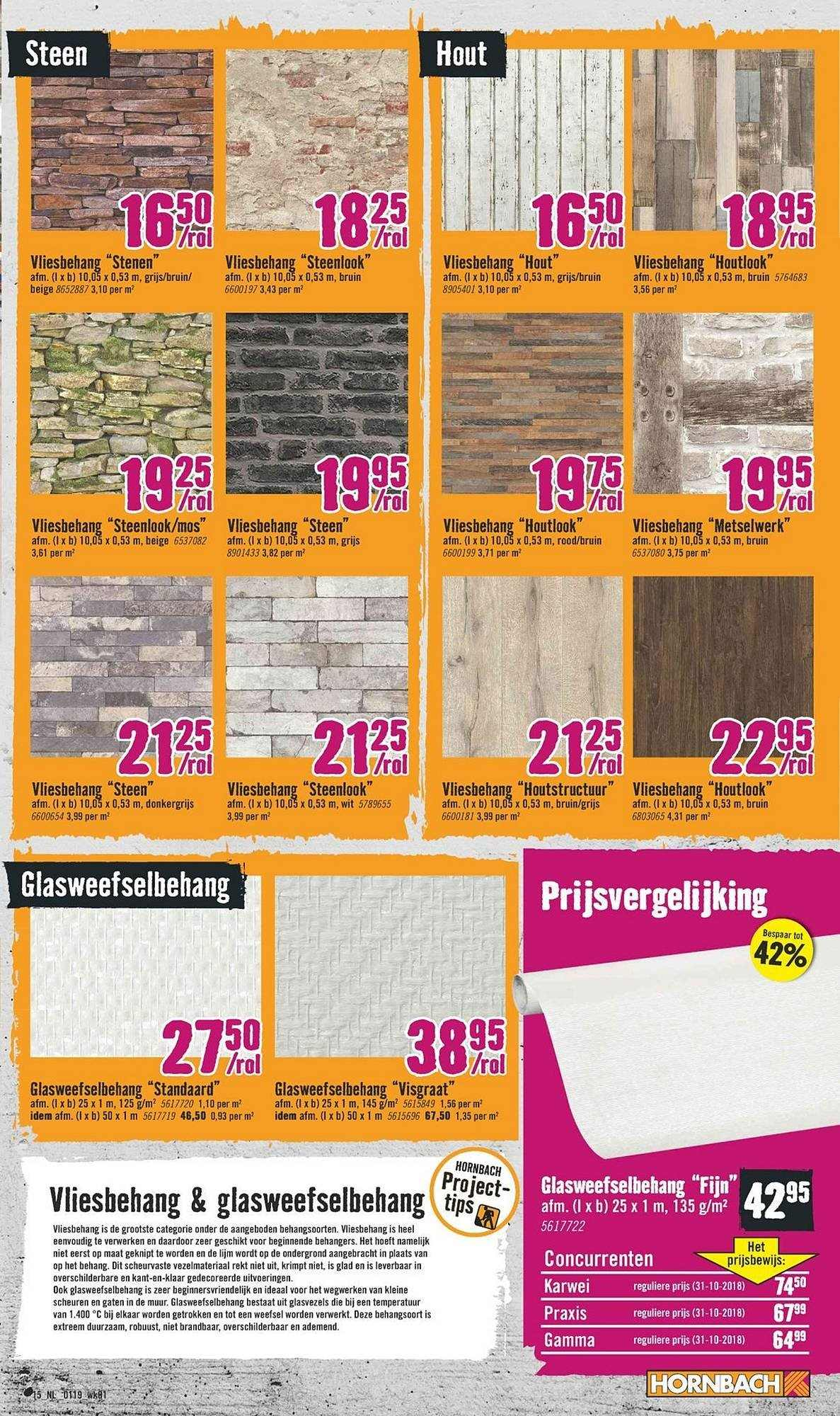 Behang Houtlook Karwei.Hornbach Folder 31 12 2018 27 1 2019 Uw Folder Nl