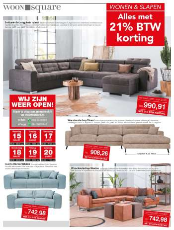 Woonsquare-aanbieding - 15.3.2021 - 20.3.2021.