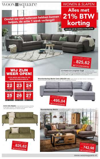 Woonsquare-aanbieding - 22.3.2021 - 27.3.2021.