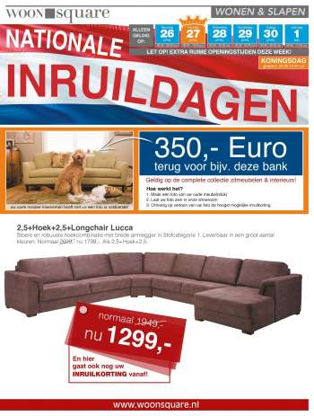 Woonsquare-aanbieding - 26.4.2021 - 1.5.2021.