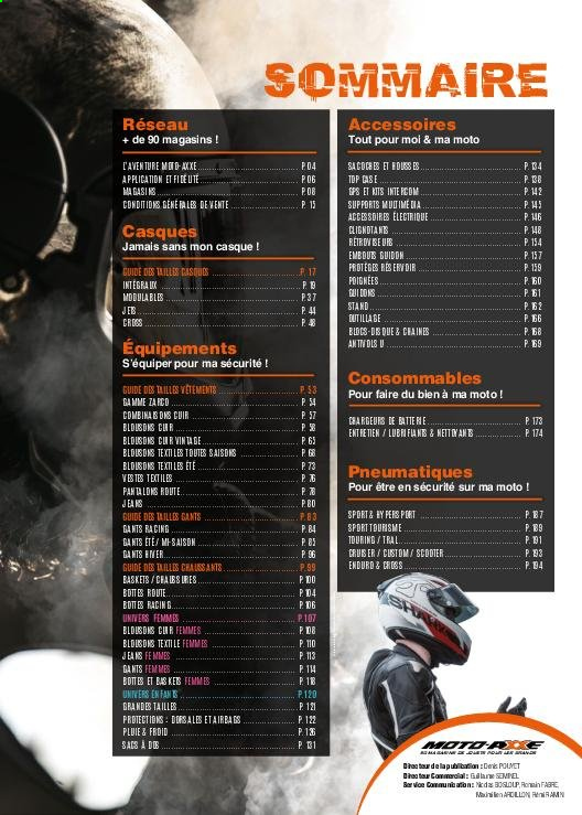 Catalogue Moto Axxe. Page 3.