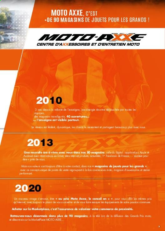 Catalogue Moto Axxe. Page 5.