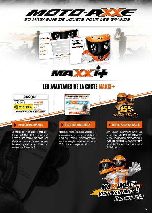 Catalogue Moto Axxe. Page 7.