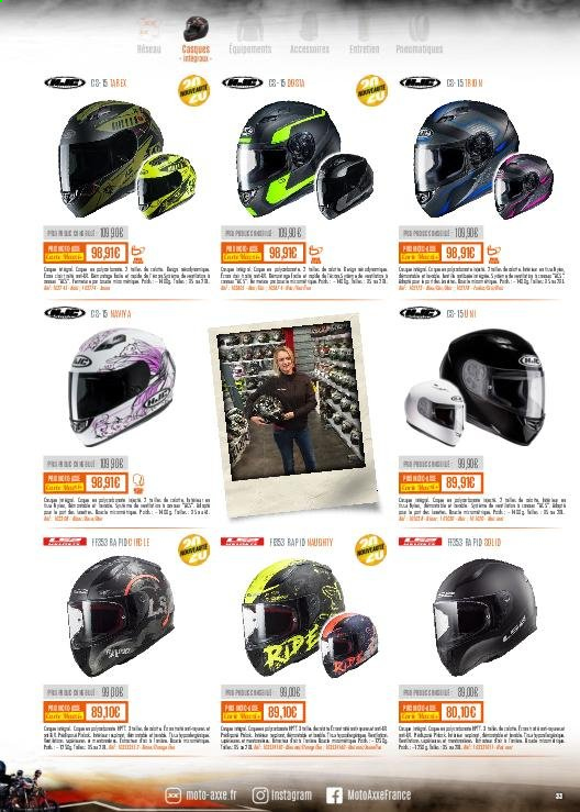 Catalogue Moto Axxe. Page 33.