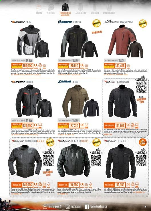 Catalogue Moto Axxe. Page 77.
