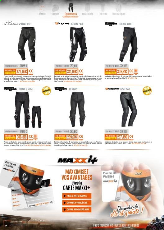 Catalogue Moto Axxe. Page 78.