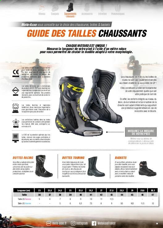 Catalogue Moto Axxe. Page 99.