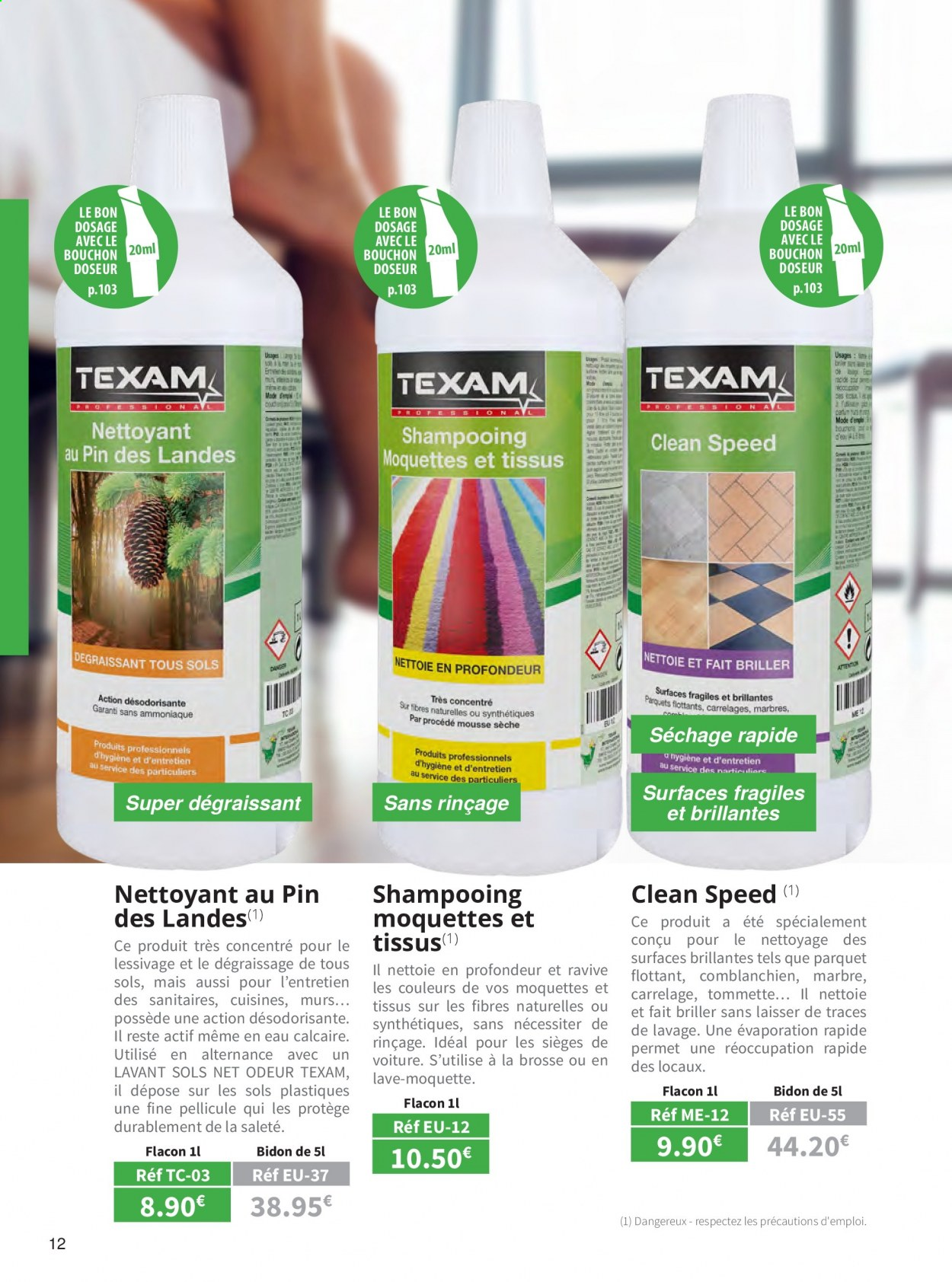 Catalogue TEXAM. Page 12.