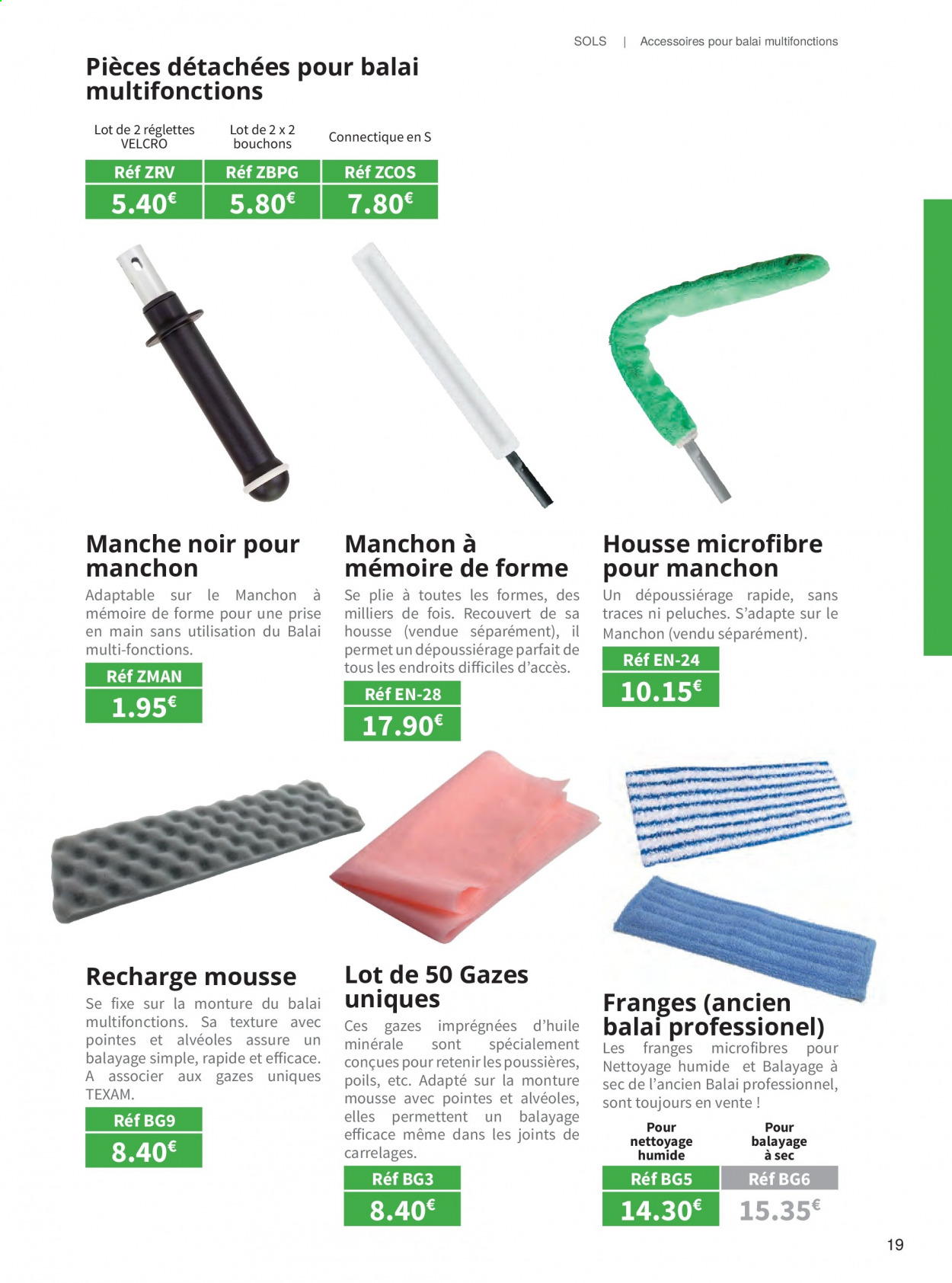 Catalogue TEXAM. Page 19.