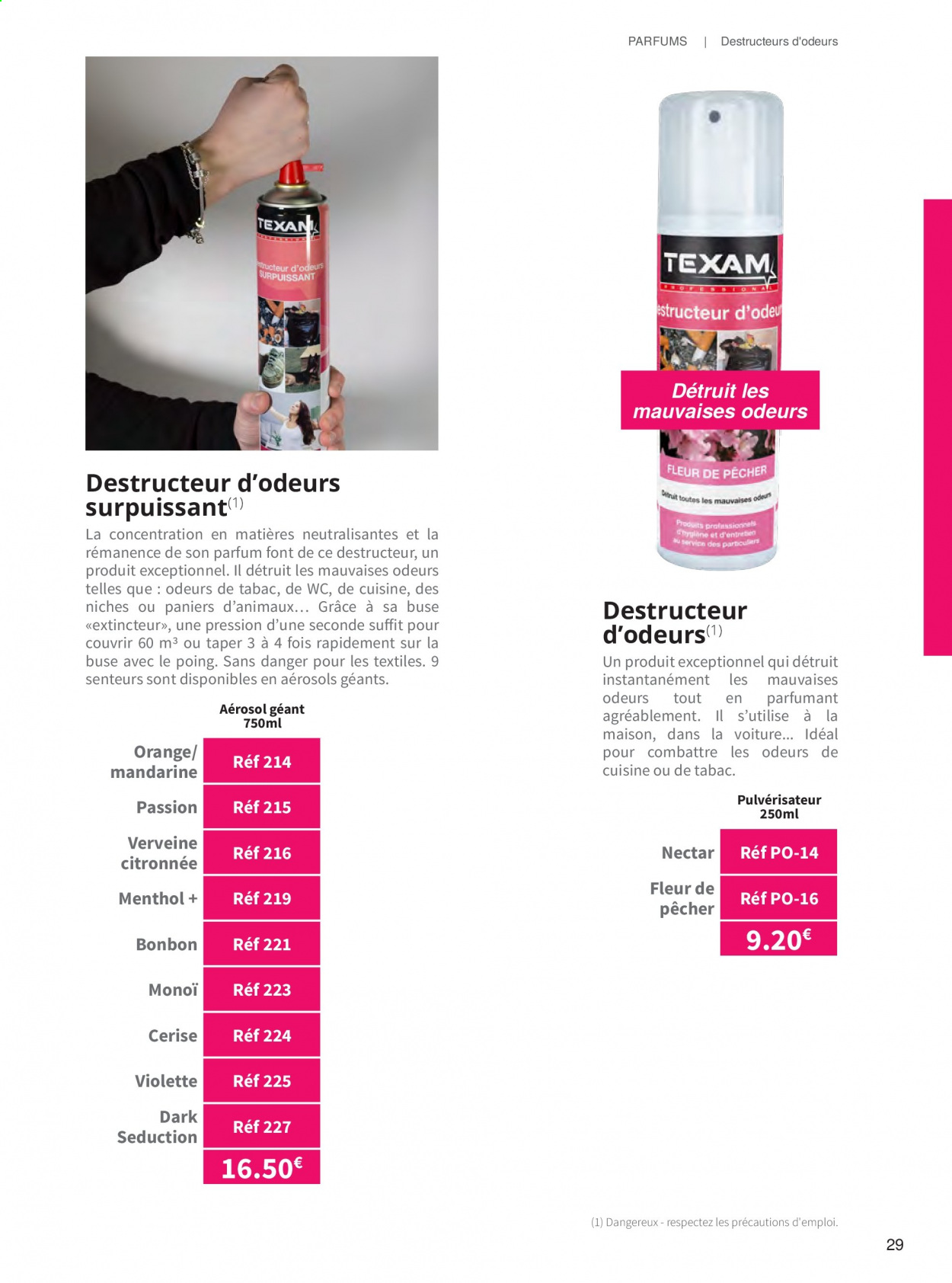 Catalogue TEXAM. Page 29.
