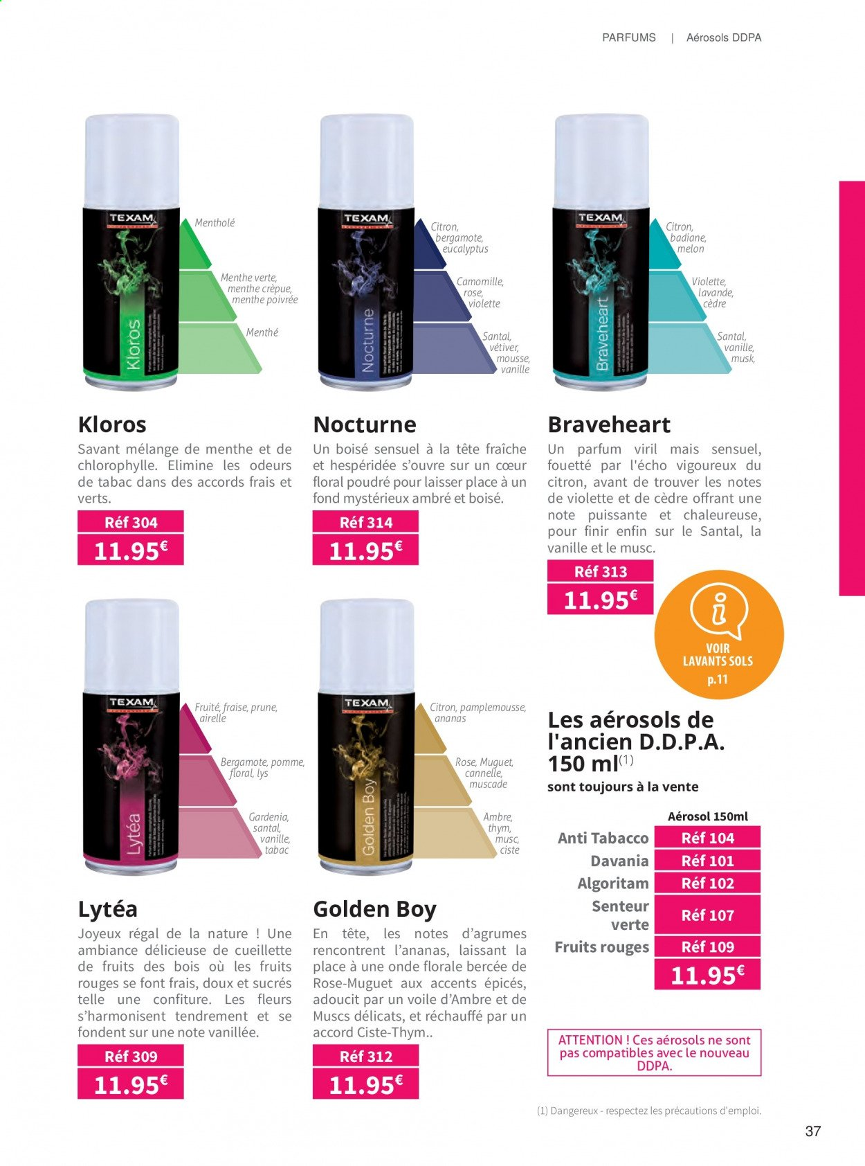 Catalogue TEXAM. Page 37.