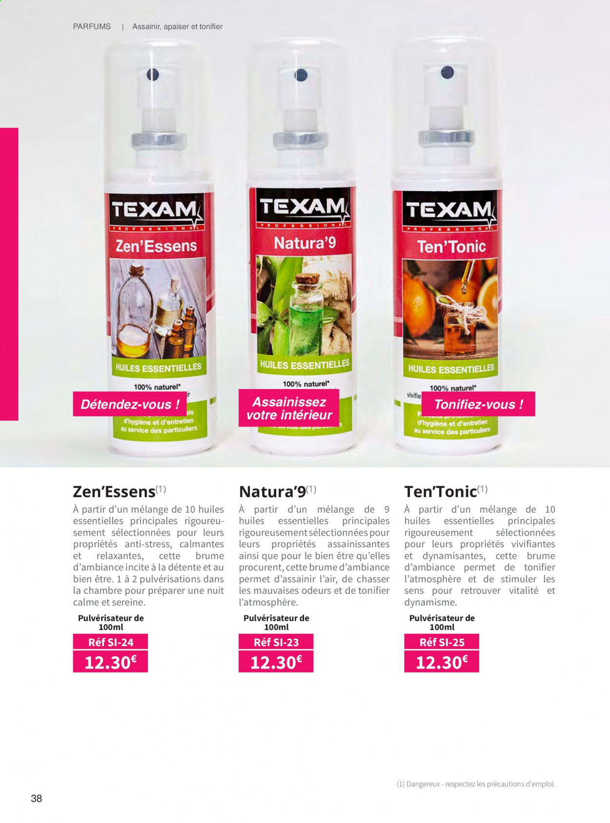 Catalogue TEXAM. Page 38.