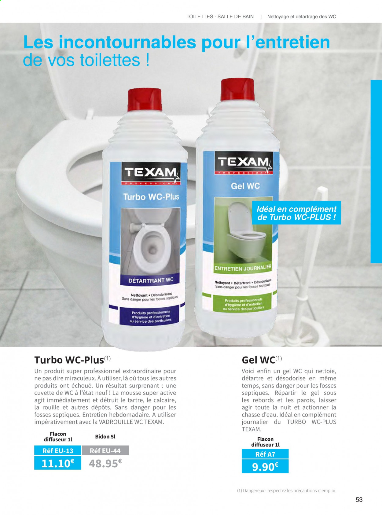 Catalogue TEXAM. Page 53.