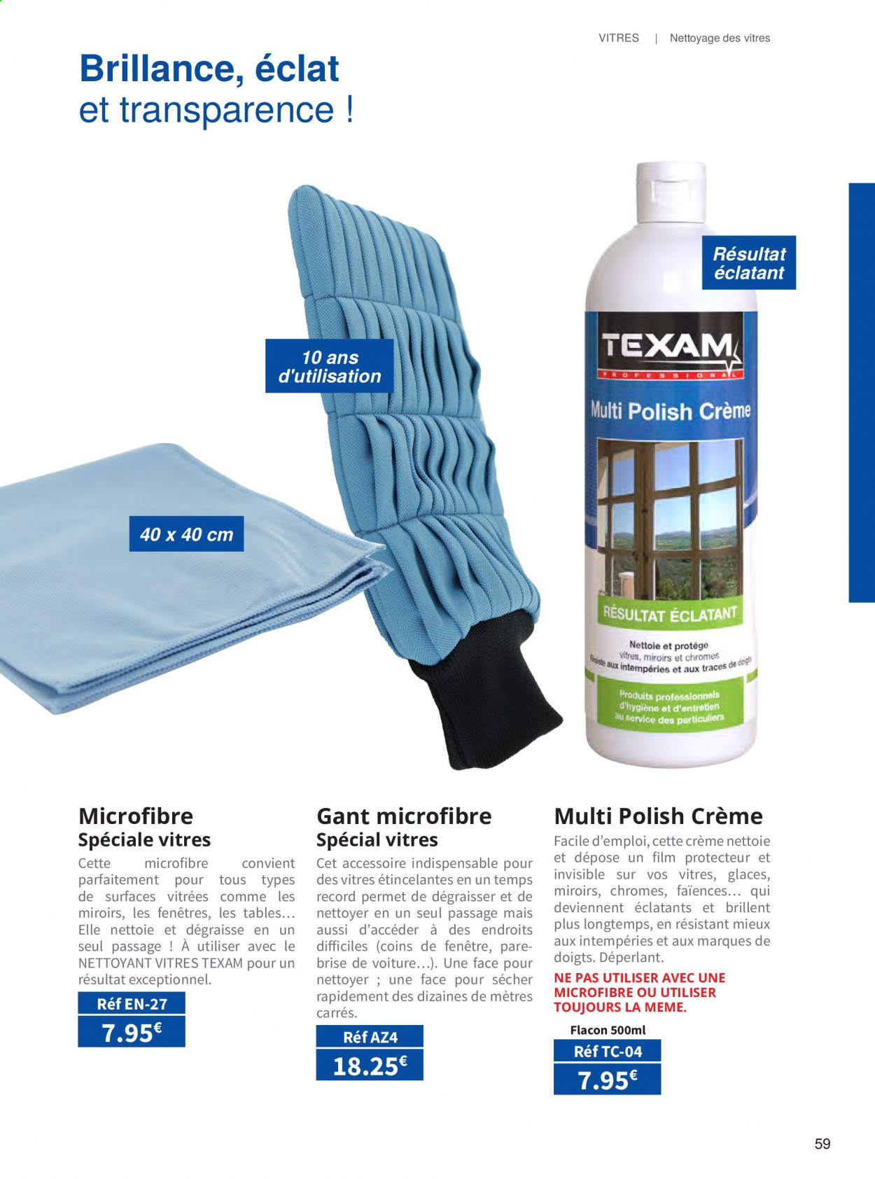 Catalogue TEXAM. Page 59.