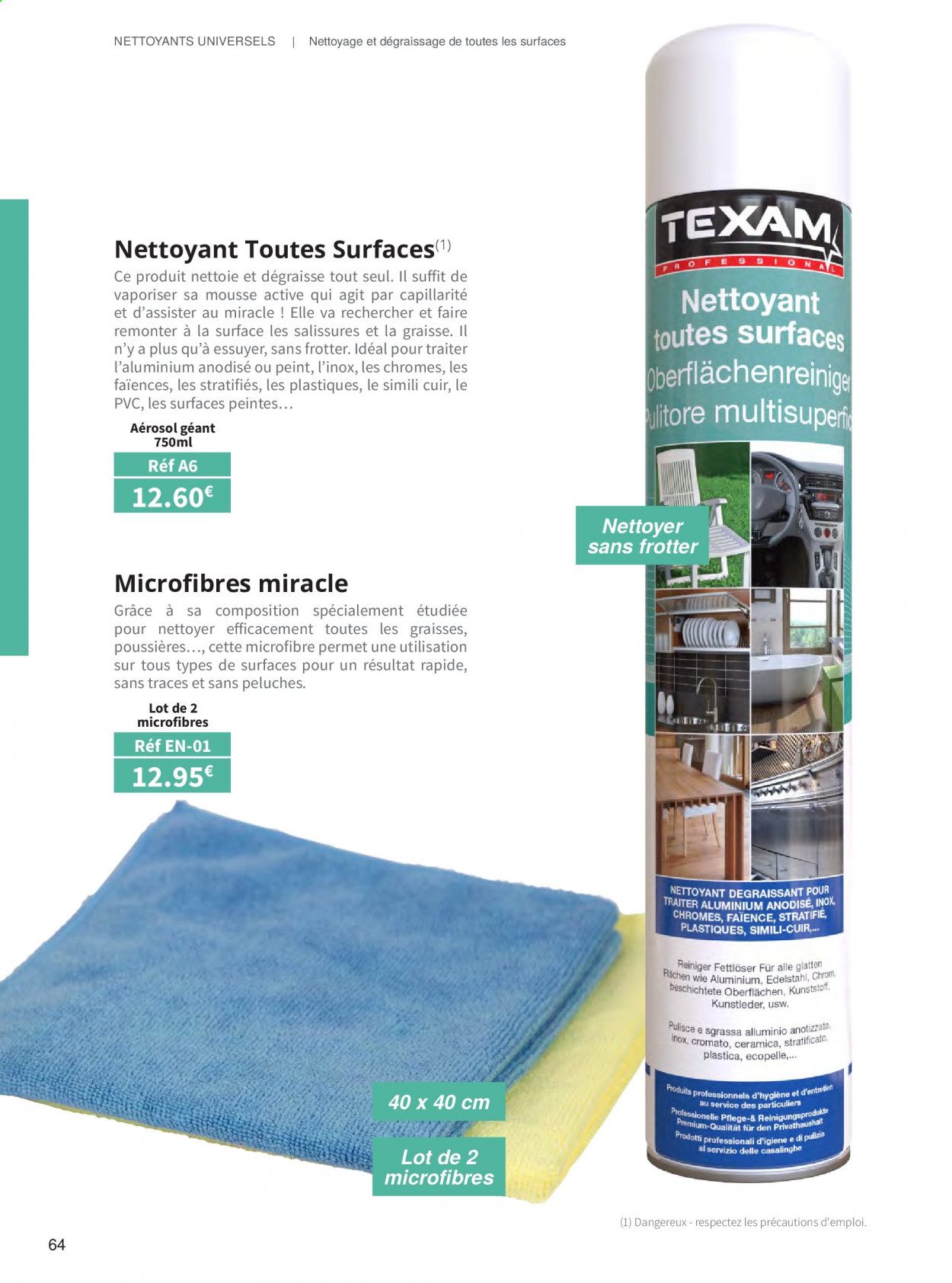 Catalogue TEXAM. Page 64.