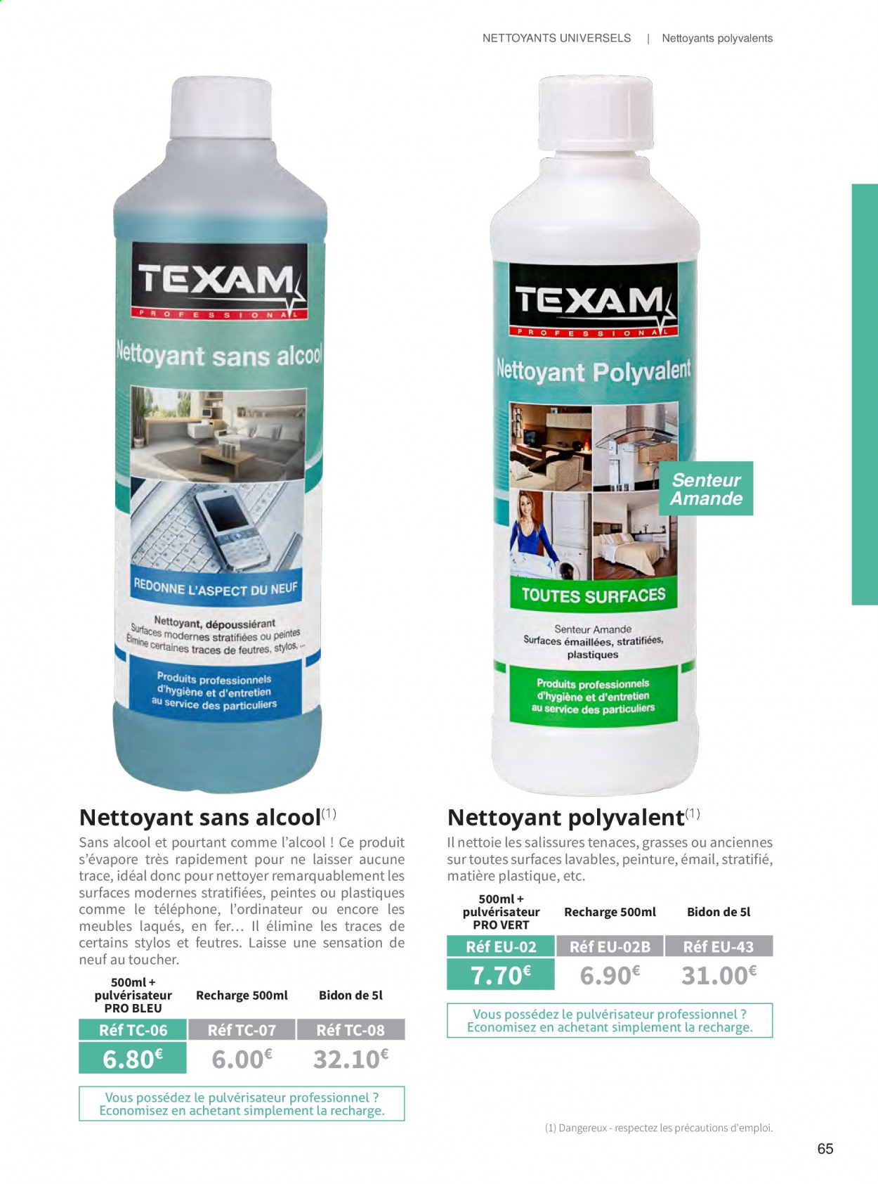 Catalogue TEXAM. Page 65.