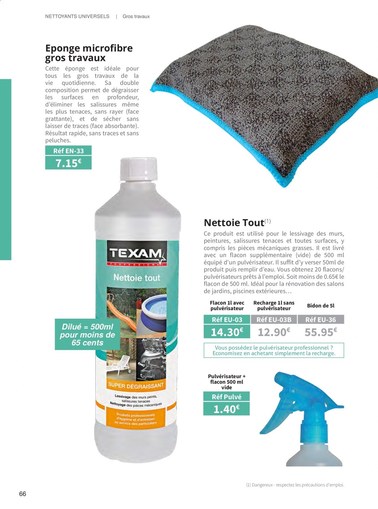 Catalogue TEXAM. Page 66.