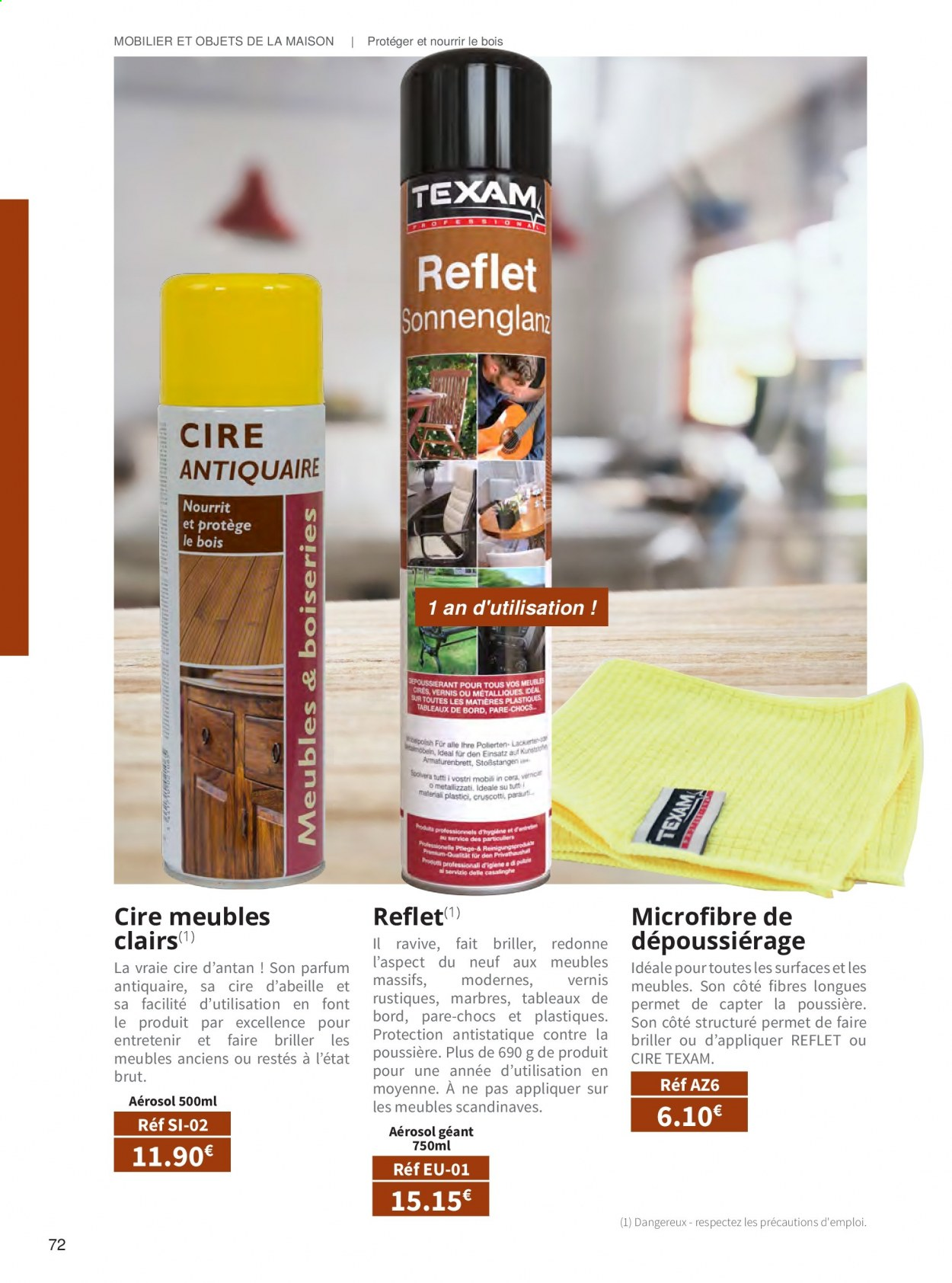 Catalogue TEXAM. Page 72.