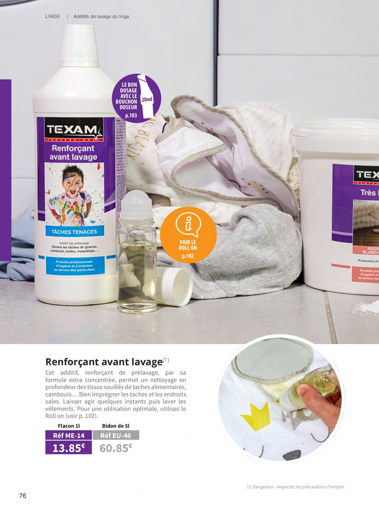 Catalogue TEXAM. Page 76.