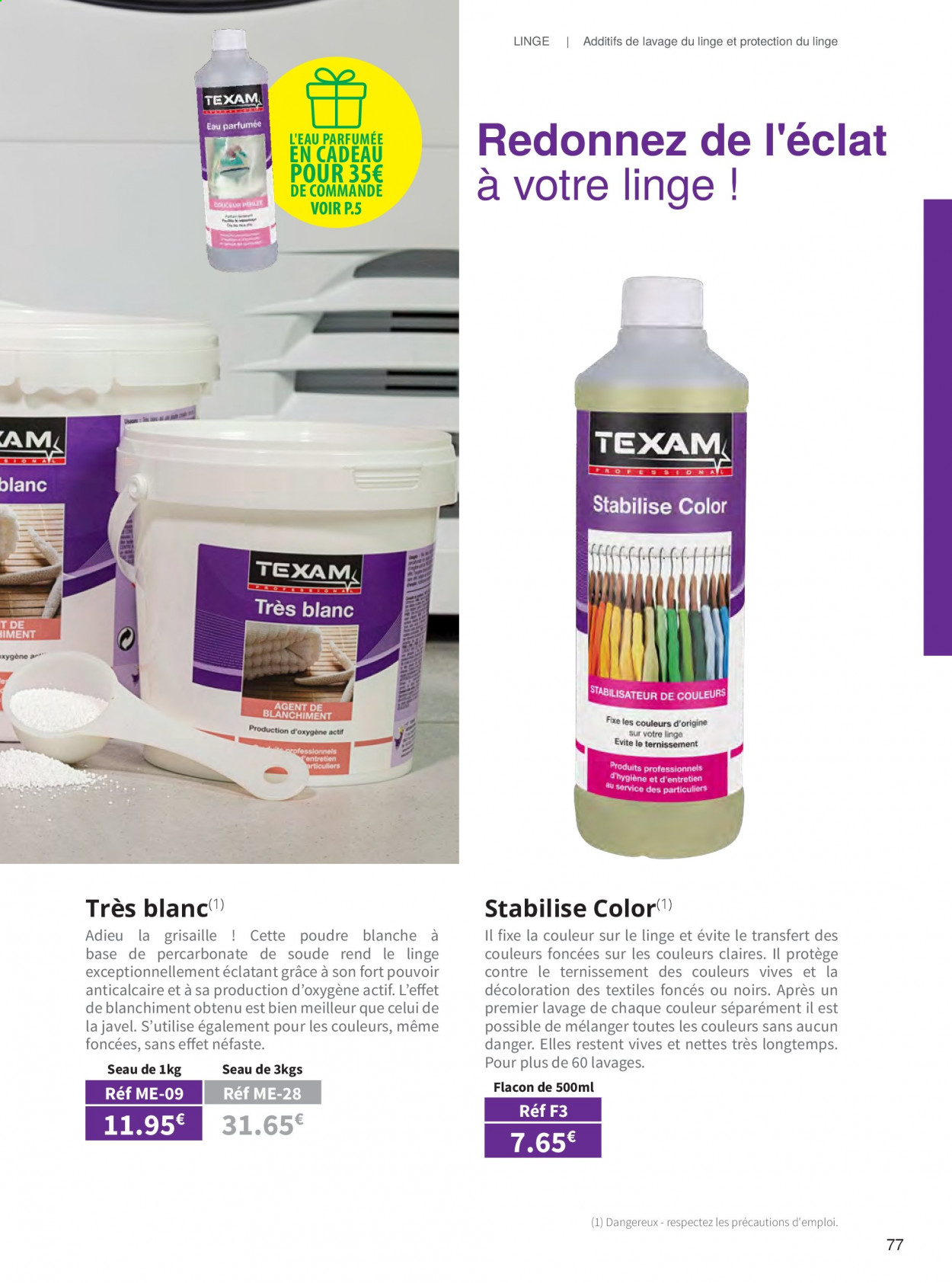 Catalogue TEXAM. Page 77.