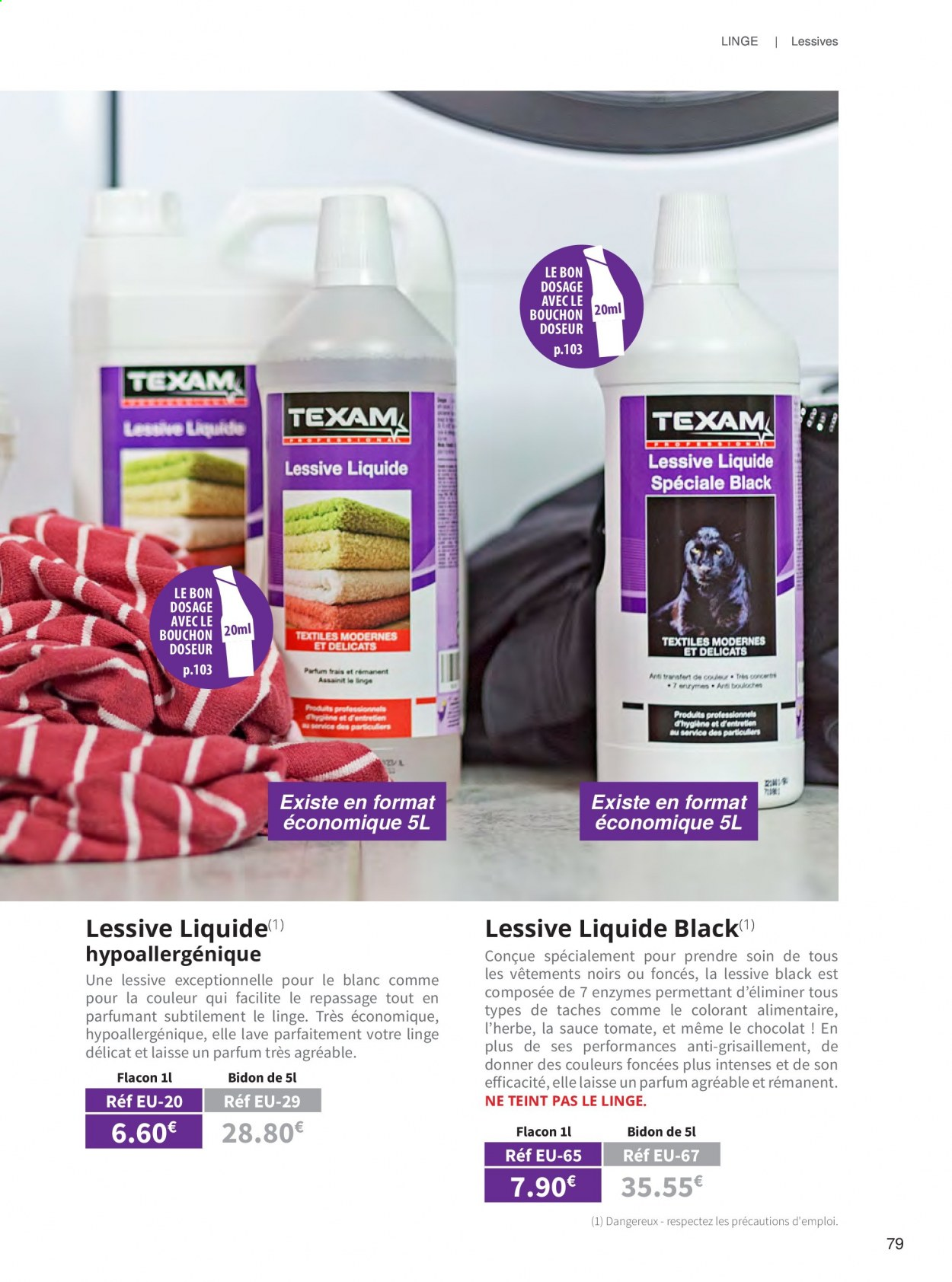 Catalogue TEXAM. Page 79.