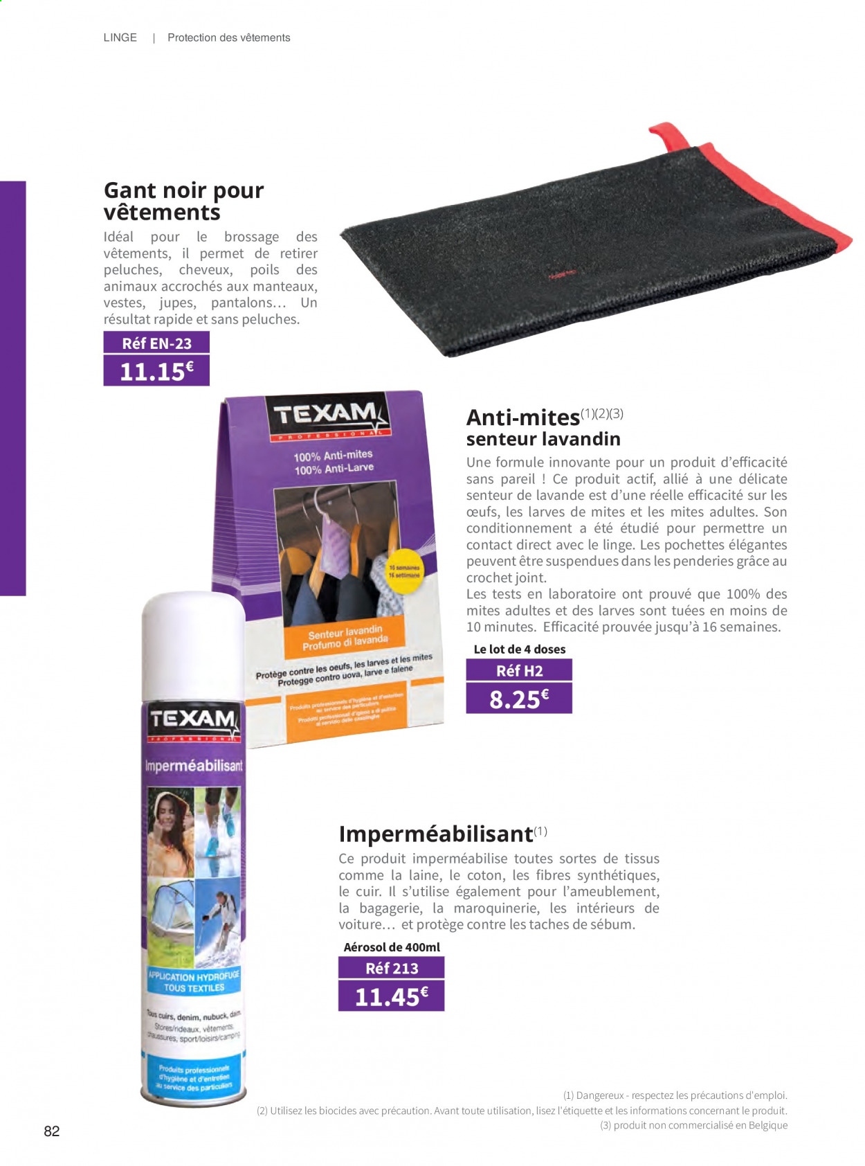 Catalogue TEXAM. Page 82.