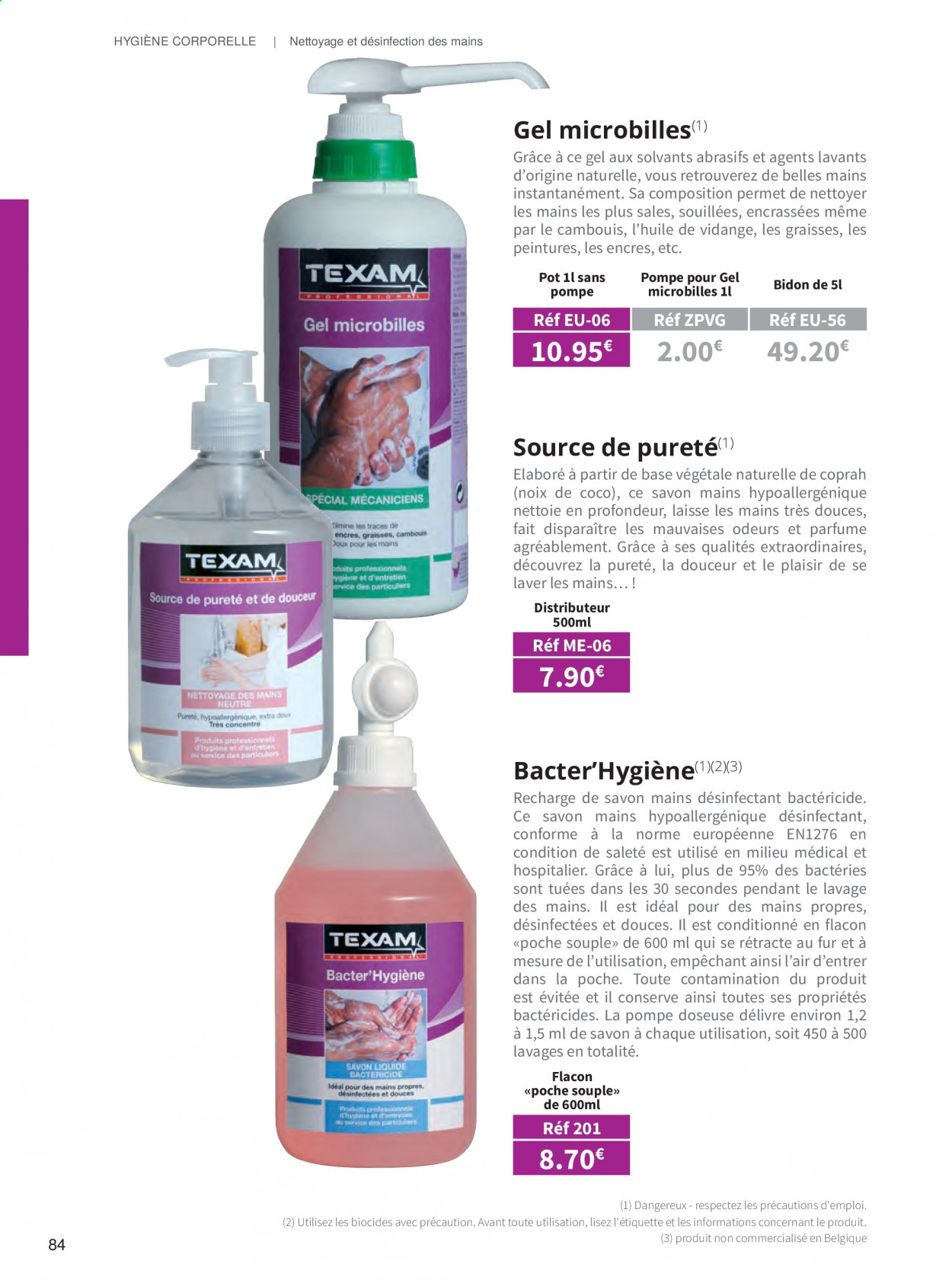 Catalogue TEXAM. Page 84.