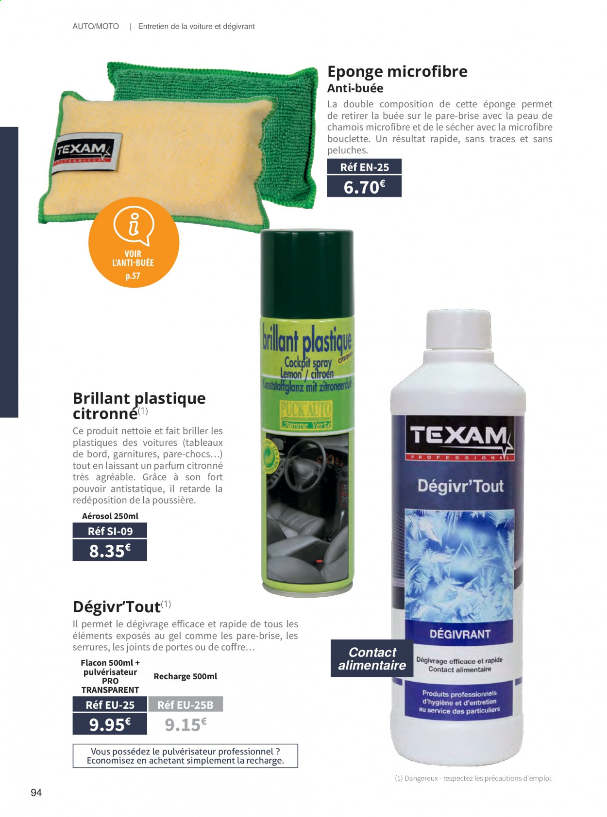 Catalogue TEXAM. Page 94.