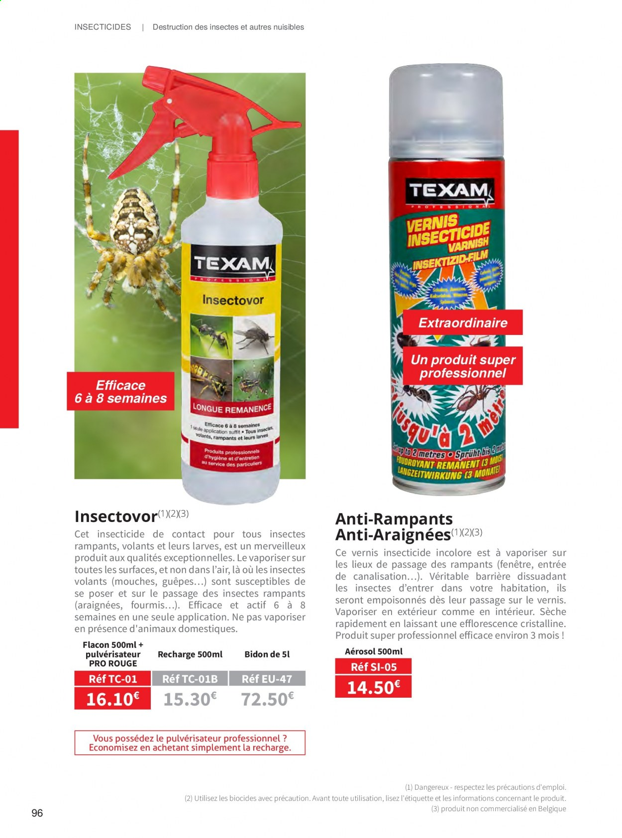Catalogue TEXAM. Page 96.