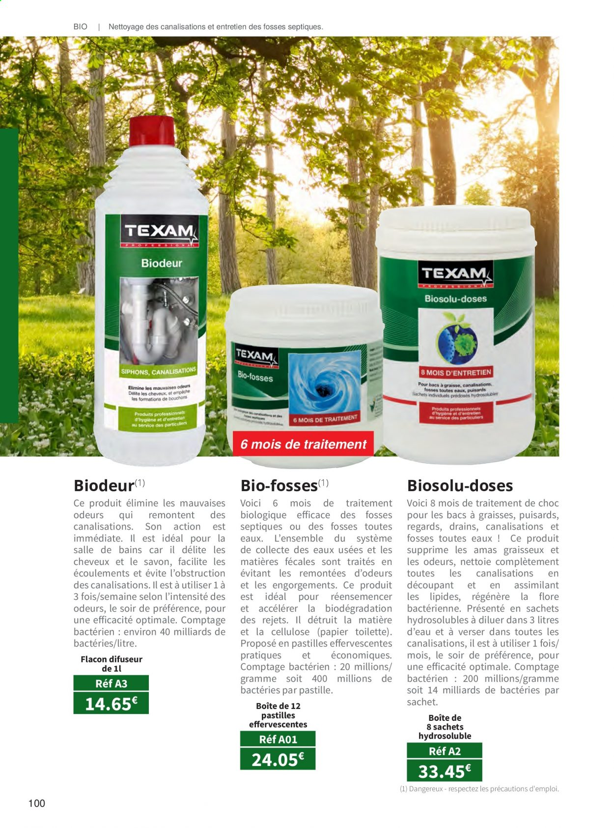 Catalogue TEXAM. Page 100.