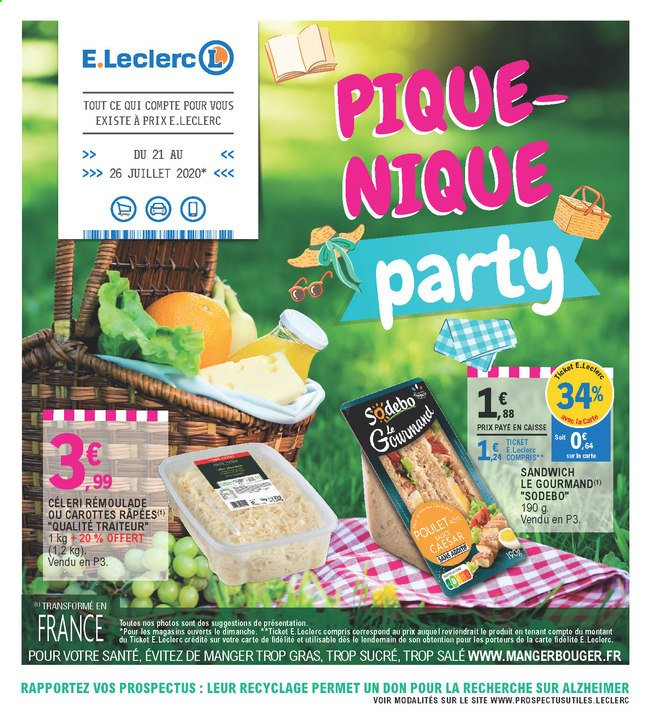 Catalogue E.Leclerc - 21.07.2020 - 26.07.2020. Page 1.