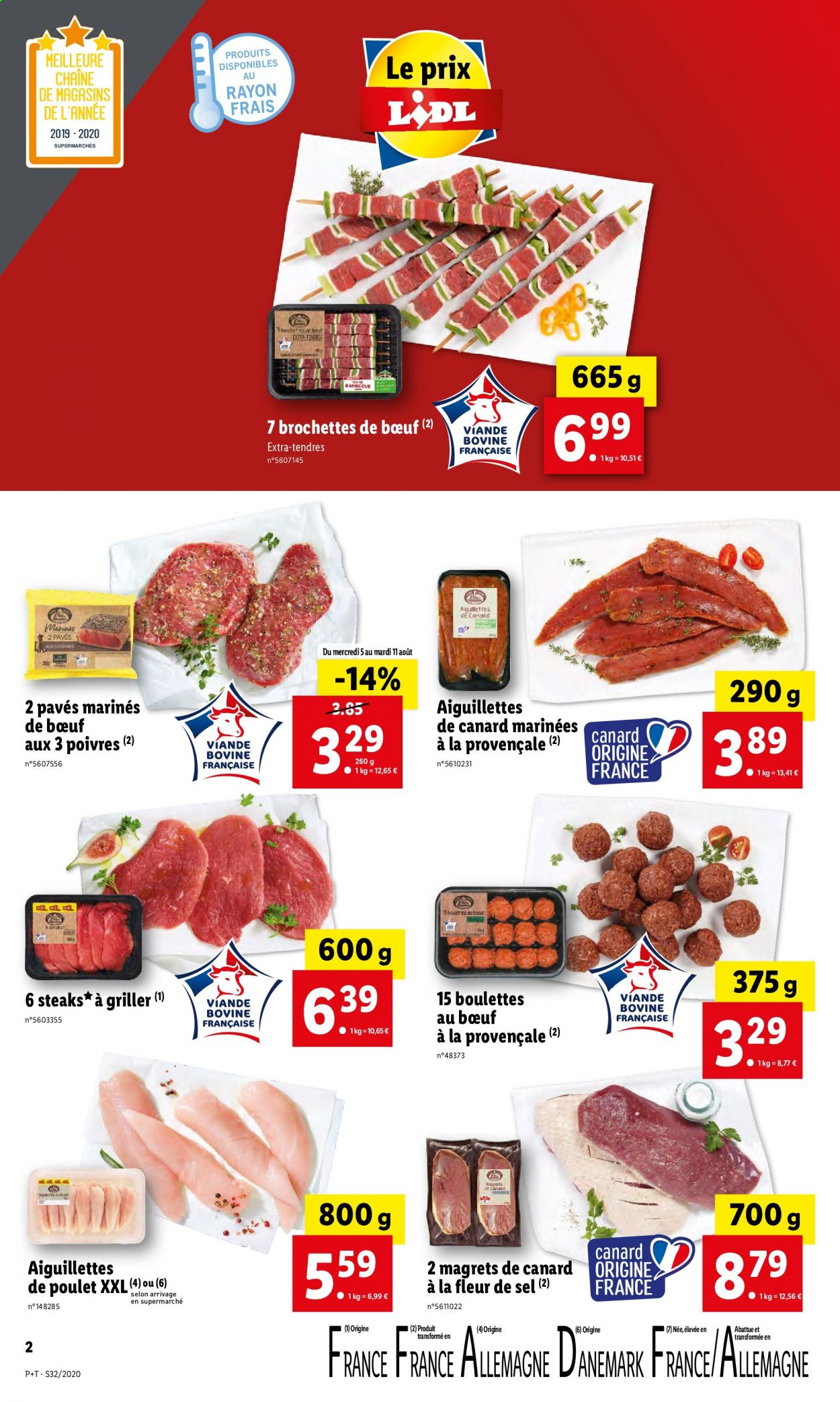 Catalogue Lidl - 05.08.2020 - 11.08.2020. Page 2.
