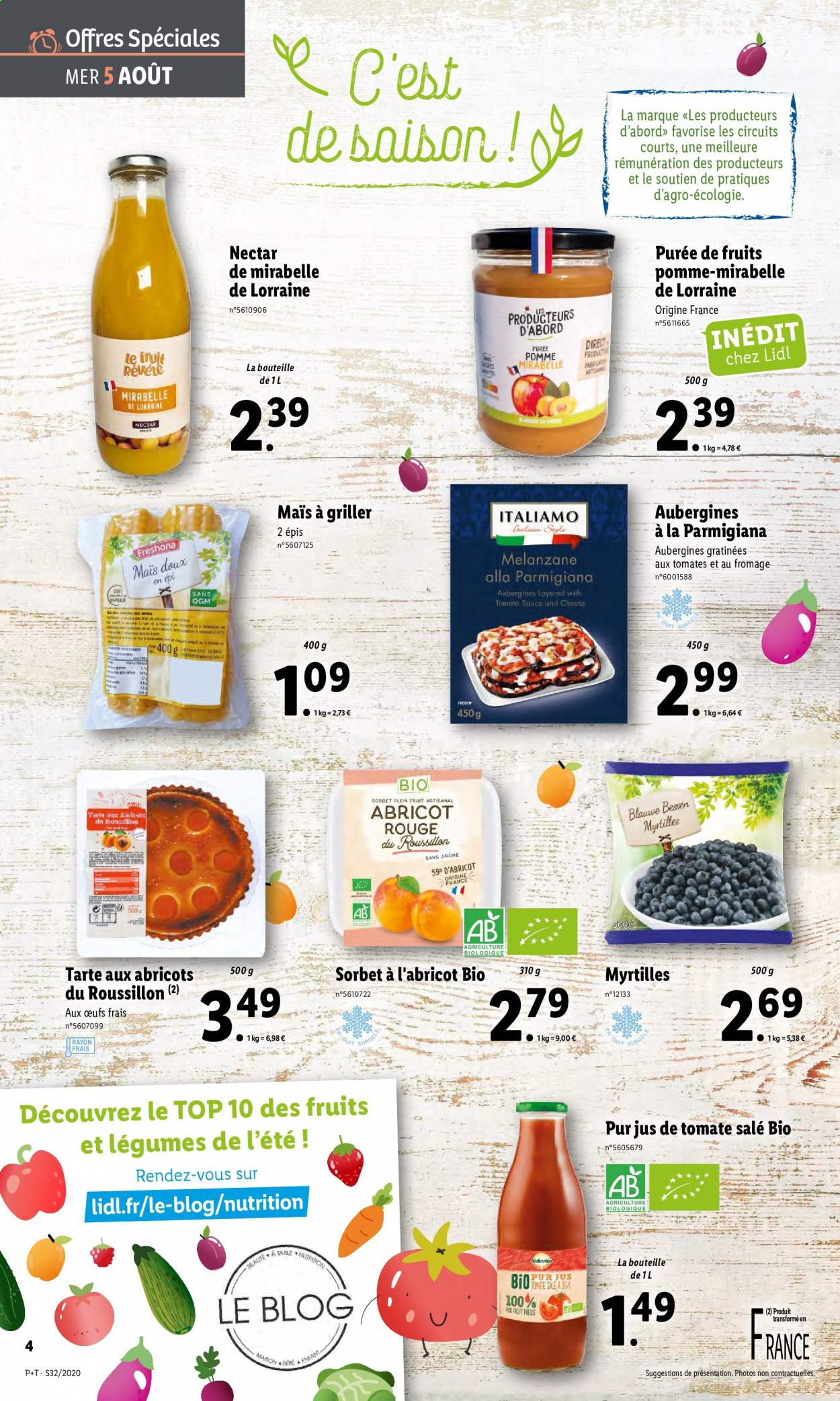 Catalogue Lidl - 05.08.2020 - 11.08.2020. Page 4.