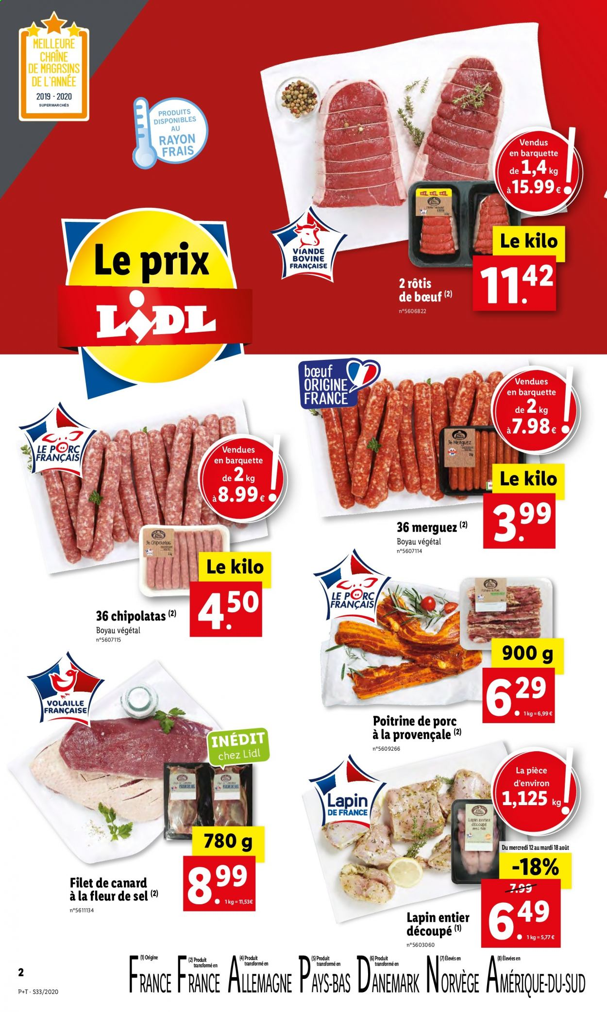 Catalogue Lidl - 12.08.2020 - 18.08.2020. Page 2.