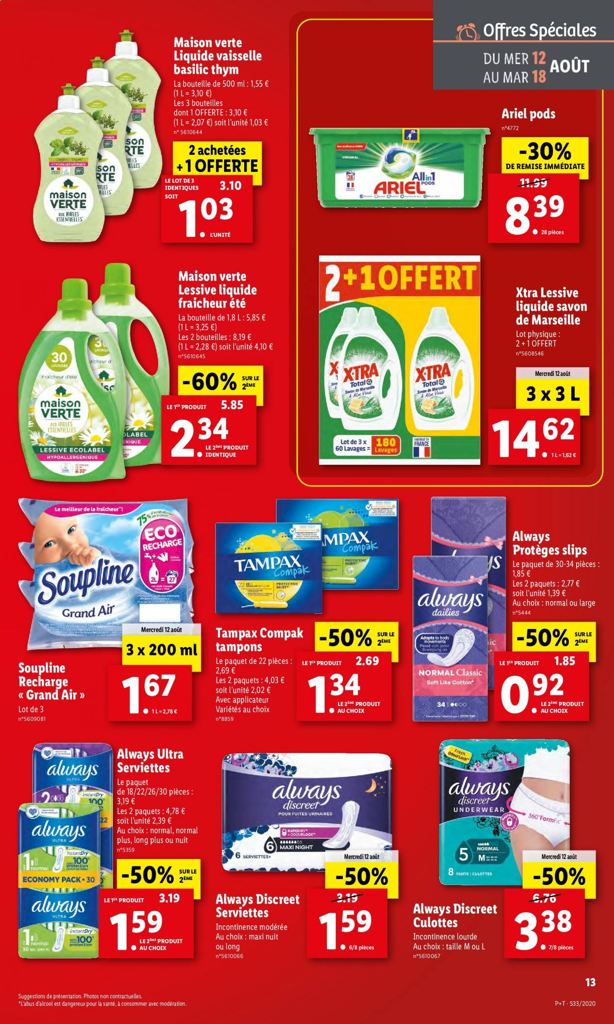 Catalogue Lidl - 12.08.2020 - 18.08.2020. Page 13.