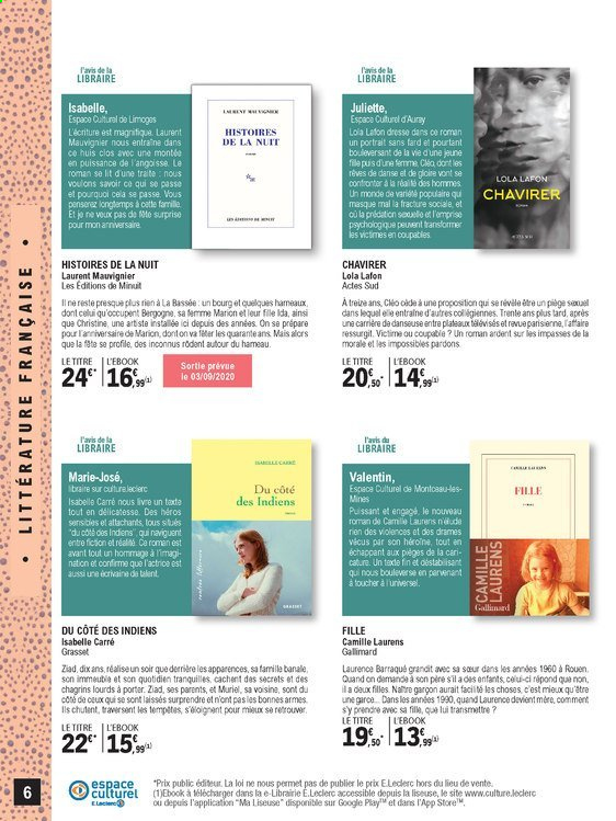 Catalogue E.Leclerc - 01.09.2020 - 24.10.2020. Page 6.