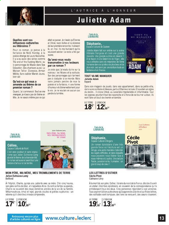 Catalogue E.Leclerc - 01.09.2020 - 24.10.2020. Page 13.