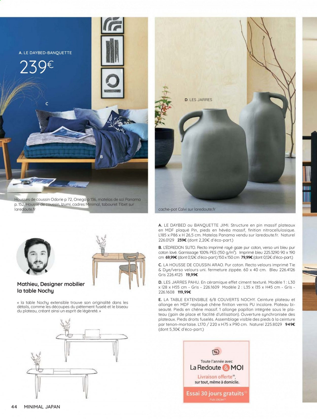 Catalogue La Redoute - 31.08.2020 - 30.06.2021. Page 44.