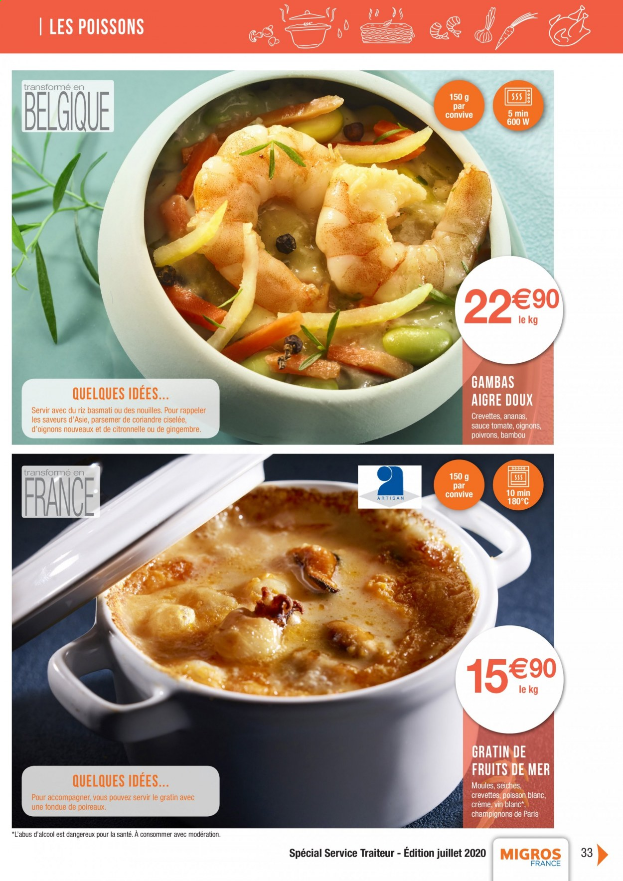 Catalogue Migros France - 01.08.2020 - 26.11.2020. Page 33.